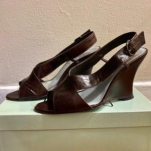 In box! Cynthia Rowley brown leather sandals sz 8